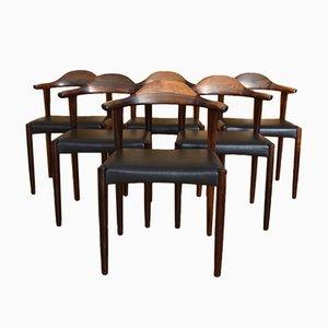 Dänische Modell 69 Esszimmerstühle aus Palisander von Jacob Hermann für Randers Møbelfabrik, 1950er, 6er Set
