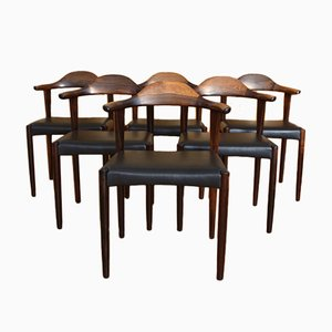 Danish Model 69 Rosewood Dining Chairs by Jacob Hermann for Randers Møbelfabrik, 1950s, Set of 6