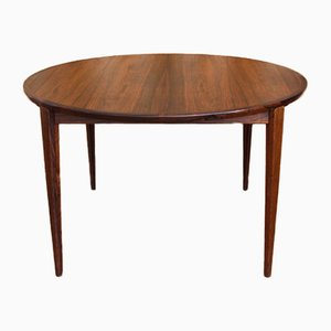 Mesa de comedor extensible danesa de palisandro de Henry Rosengren Hansen para Brande Møbelindustri, años 50