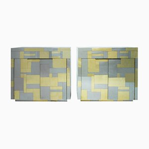 Mid-Century Modern American Cityscape Sideboards by Paul Evans, Set of 2