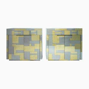 Moderne amerikanische Mid-Century Cityscape Sideboards von Paul Evans, 2er Set