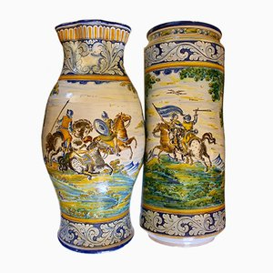 Talavera de la Reina Vases by Emilio Sanchez Sosa, 1950s, Set of 2
