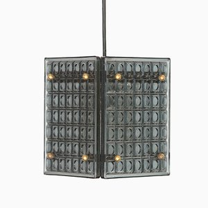 Swedish Smoked Glass Pendant Light by Mac Hegerup for Kronobergsbelysning, 1960s