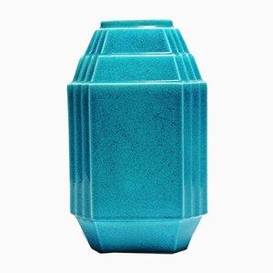 Art Deco Geometric Monochrome Vase for Boch Keramis, 1930s