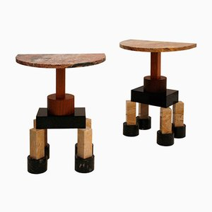 Italian Demistella Console Tables by Ettore Sottsass, Set of 2