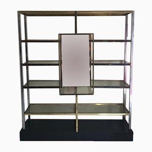 Golden & Chrome-Plated Shelf, 1970s