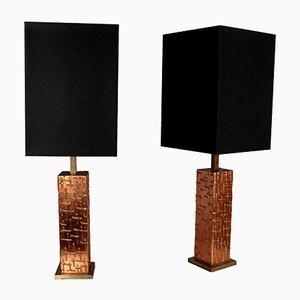 Grandes Lampes de Bureau Vintage, Italie, 1980s, Set de 2