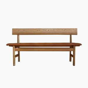 Model 171 Oak Bench by Børge Mogensen for Fredericia, 1956