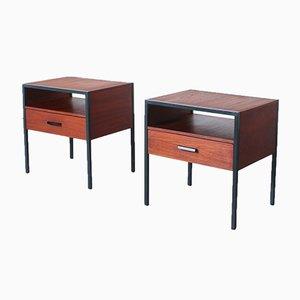 Tables de Chevet en Contreplaqué et en Teck Vernis de Auping, 1960s, Set de 2