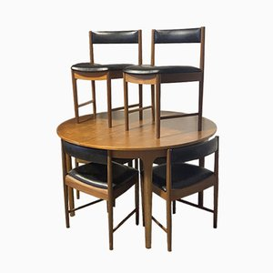 Mid-Century Extendable Dining Table & Chairs Set from McIntosh