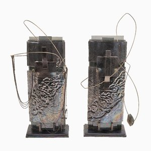 King and Queen Sculptures by Mabel Waisman, Set of 2
