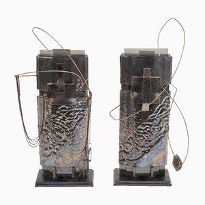 Sculptures King and Queen par Mabel Waisman, Set de 2