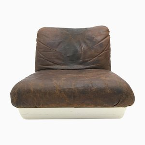 Vintage Brown Chaise Longue