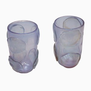 Italian Murano Glass Vases by Costantini, Set of 2