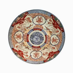 Large 18th-Century Imari Porcelain Plate