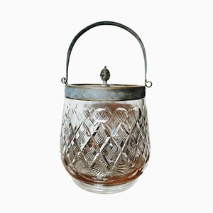 19th-Century Crystal Glass Lidded Biscuit Barrel from Hulkin and Heath