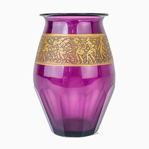 Art Nouveau Purple Vase by Ludwig Moser for Moser Glassworks, 1900s
