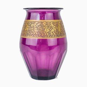 Vase Art Nouveau Violet par Ludwig Moser pour Moser Glassworks, 1900s