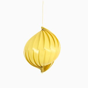 Space Age Yellow Pendant Lamp, 1960s