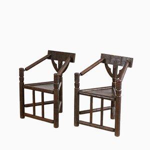 Handgefertigte Stühle, 1970er, 2er Set