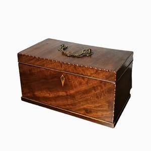 Georgian Inlaid Mahogany Caddy