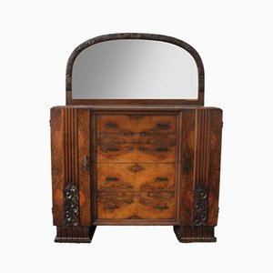 Art Deco Dresser with Mirror & Bedside Tables Set