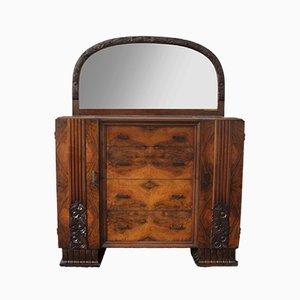 Set de Coiffeuse avec Miroir et Tables de Chevet Art Déco