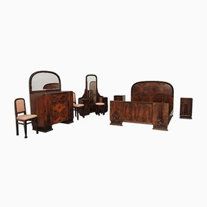 Art Deco Dresser with Mirror & Bedside Tables Set