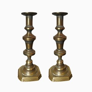 18th-Century English Church Candleholders, Set of 2
