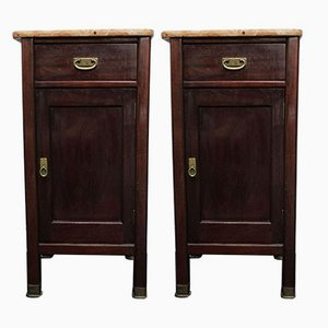 Art Nouveau Nightstands from Alberto Issel, 1910s, Set of 2