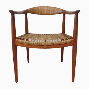 Teak JH 501 Chair by Hans J Wegner for Johannes Hansen, 1950s