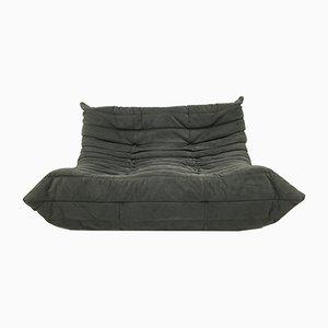Schwarzes Vintage 2-Sitzer Togo Sofa von Michel Ducaroy Ligne Roset