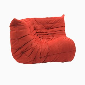 Vintage Red Corner Togo Sofa by Michel Ducaroy for Ligne Roset