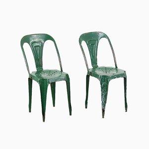 Industrielle Stühle von Joseph Mathieu für La Société Industrielle des Meubles Multipl's, 1950er, 2er Set
