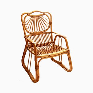 Vintage Italian Bamboo Chair, 1970s