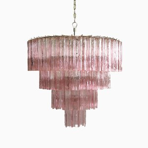 Murano Glass Tiered Chandelier from Mazzega, 1983