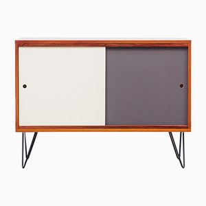 Small Colored Walnut Sideboard on Hairpin Legs, 1960s