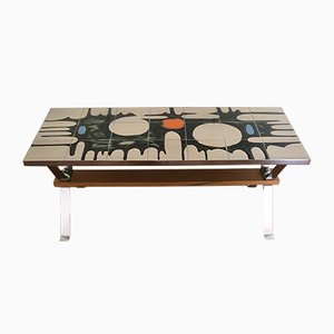 Table Basse en Céramique, 1970s