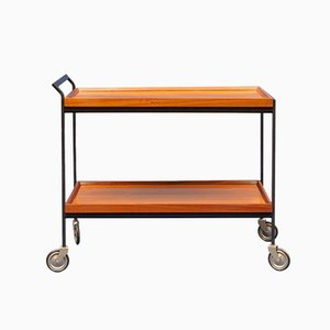 Minimalist Walnut Trolley, 1960s