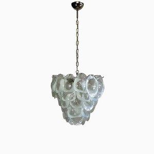 Lámpara de araña de cristal de Murano de Mazzega, 1979