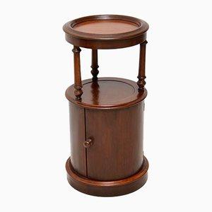 Tavolino vittoriano antico in mogano con mobiletto, metà XIX secolo