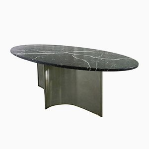 Vintage Metal, Marble & Steel Dining Table, 1970s