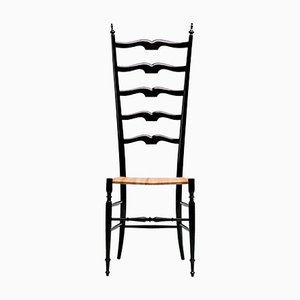 Italian High Back Lacquered Chiavari Chair, 1968