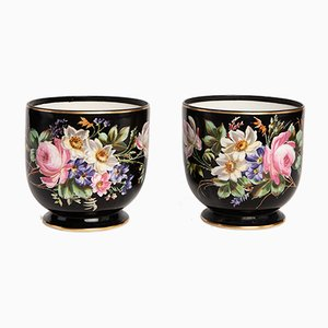 19th Century French Porcelain Vases, Set of 2