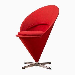 Roter Cone Chair von Verner Panton, 1950er