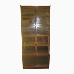 Antique Oak & Glazed Sectional Bookcase from Minty