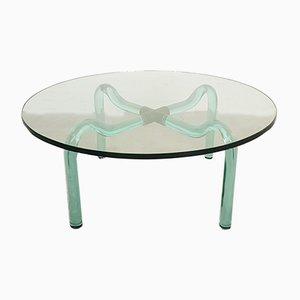 Table Basse en Verre de Murano & Laiton de Seguso, 1950s