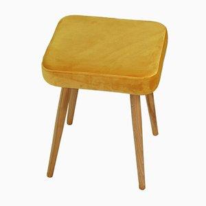Sgabello vintage giallo, anni '70