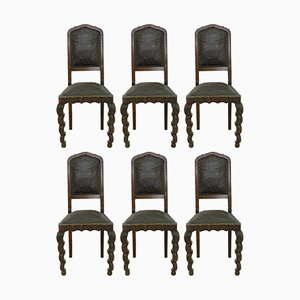 Art Nouveau Dining Chairs, 1910s, Set of 6