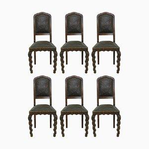 Chaises de Salon Art Nouveau, 1910s, Set de 6